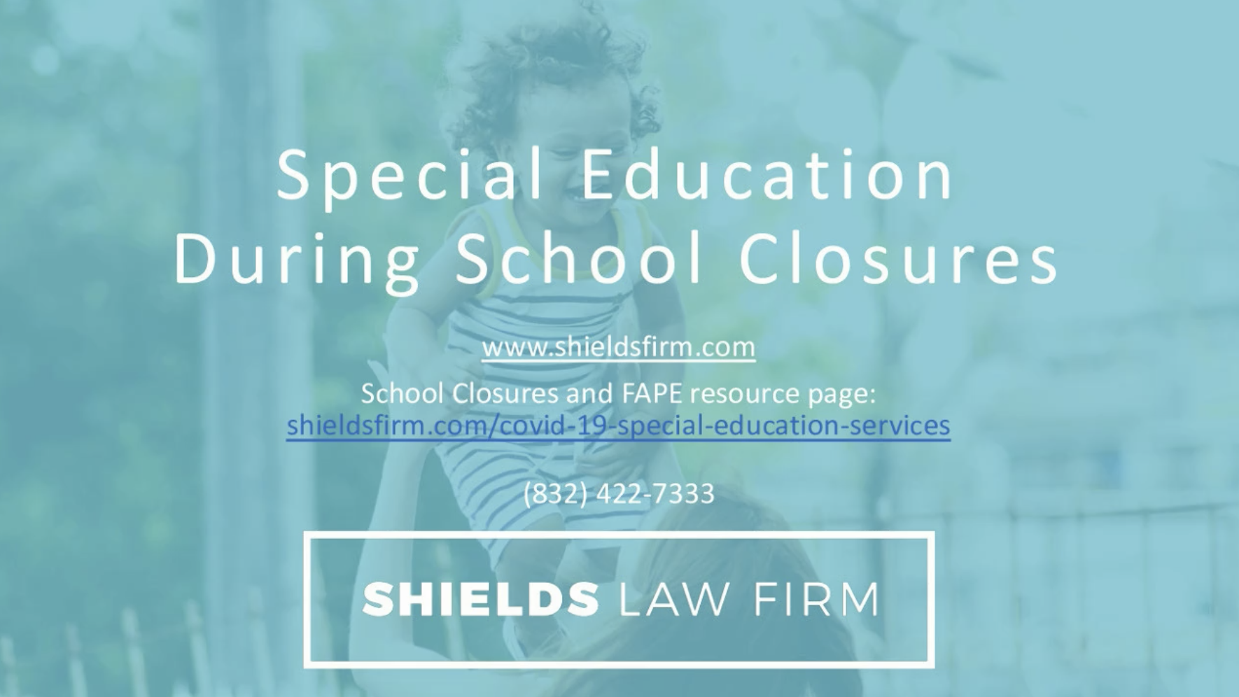 Webinar Special Education During Closures